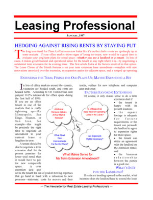 Leasing Professional Newsletter