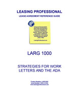 LARG 1000 Strategies For Work Letters And The ADA