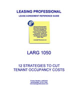 LARG 1050 Strategies For Cutting Tenant Occupancy Costs