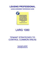 LARG 1080 Tenant Strategies To Control Common Area Costs