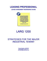 LARG 1200 Strategies For The Major Industrial Tenant