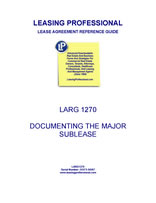 LARG 1270 Documenting The Major Sublease