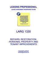 LARG 1330 Repairs, Restoration, Personal Property And Tenant Improvements