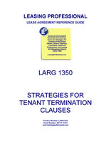 LARG 1350 Strategies For Tenant Termination Clauses
