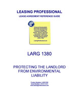 LARG 1380 Protecting The Landlord From Environmental Liability