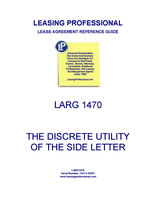 LARG 1470 The Discrete Utility of the Side Letter