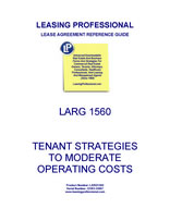 LARG 1560 Tenant Strategies To Moderate Operating Costs