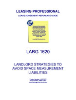 LARG 1620 Landlord Strategies To Avoid Space Measurement Liabilities