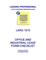 LARG 1670 Office And Industrial Lease Form Checklist