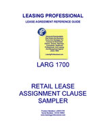 LARG 1700 Retail Lease Assignment Clause Sampler