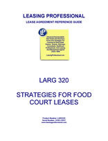 LARG 320 Strategies For Food Court Leases