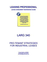 LARG 340 Pro-Tenant Strategies For Industrial Leases