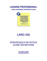 LARG 500 Strategies For Office Lease Definitions