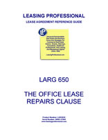 LARG 650 The Office Lease Repairs Clause