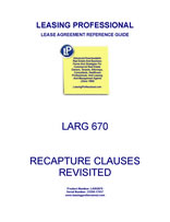 LARG 670 Recapture Clauses Revisited