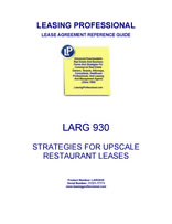 LARG 930 Strategies For Upscale Restaurant Leases