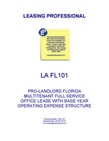 LA FL101 Pro-Landlord Florida Multitenant Full Service Office Lease With Base Year Operating Expense Structure