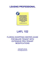 LA FL102 Florida Shopping Center Lease For Major Tenant With Extensive Pro-Tenant Modifications
