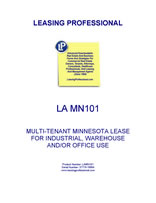 LA MN101 Multi-Tenant Minnesota Lease For Industrial, Warehouse And/Or Office Use